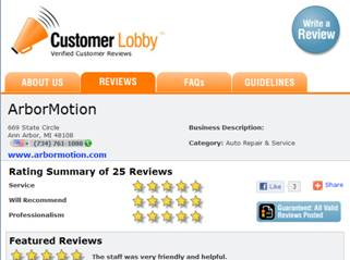 customer lobby example reviews